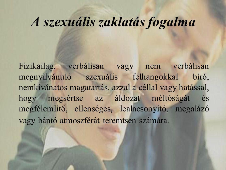 A szexuális zaklatás fogalma