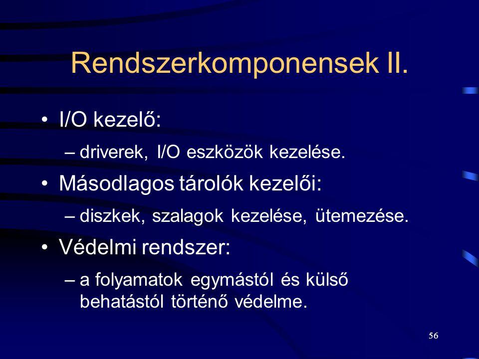 Rendszerkomponensek II.