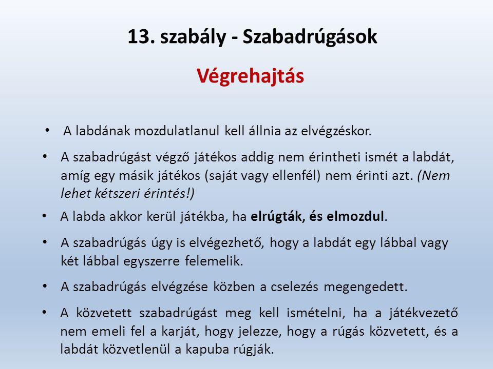 13. szabály - Szabadrúgások