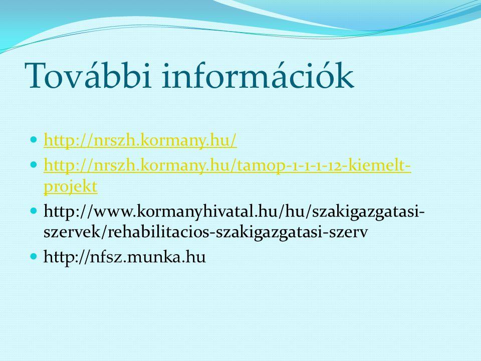 További információk http://nrszh.kormany.hu/