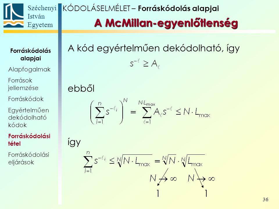 A McMillan-egyenlőtlenség
