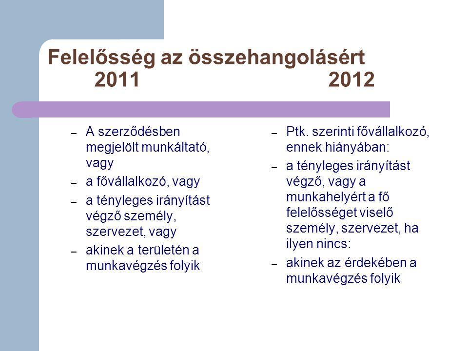Felelősség az összehangolásért 2011 2012
