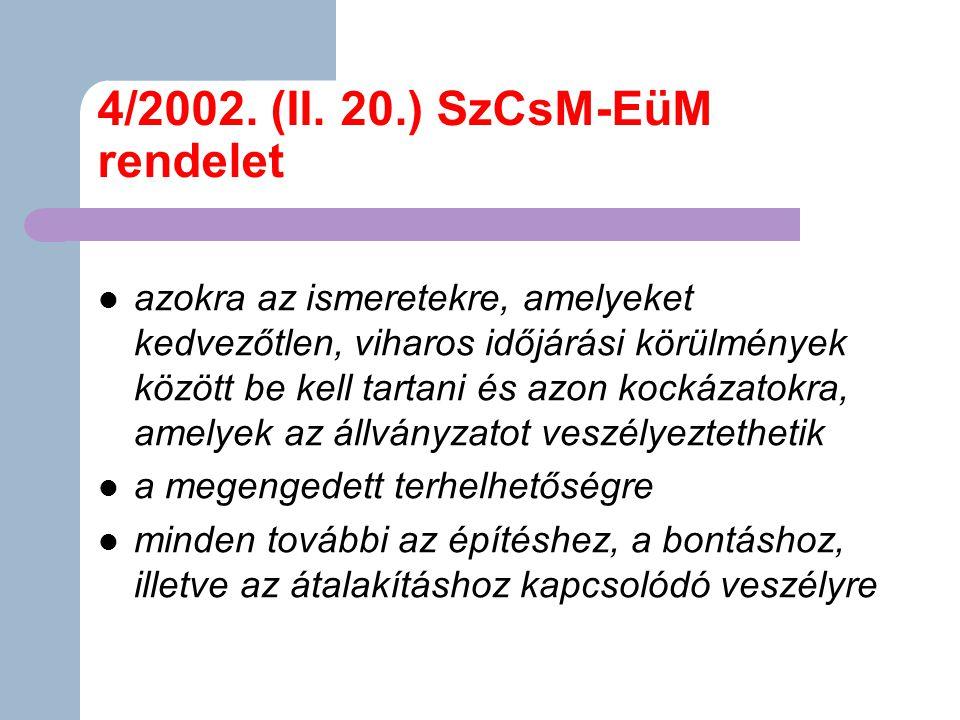 4/2002. (II. 20.) SzCsM-EüM rendelet