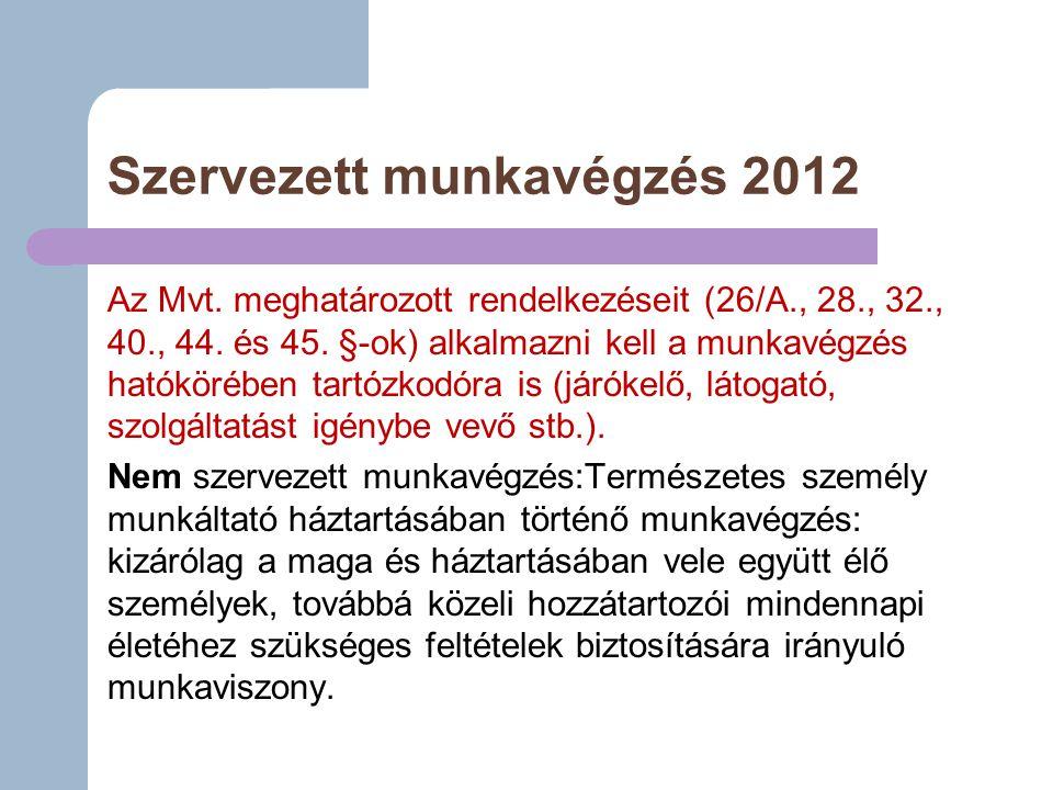 Szervezett munkavégzés 2012