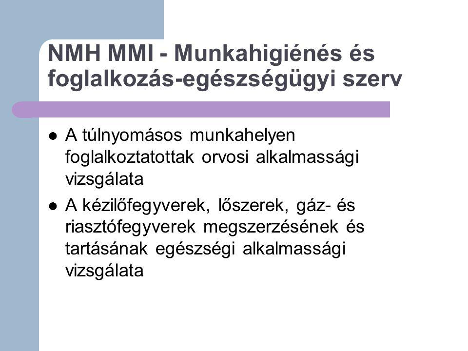NMH MMI - Munkahigiénés és foglalkozás-egészségügyi szerv