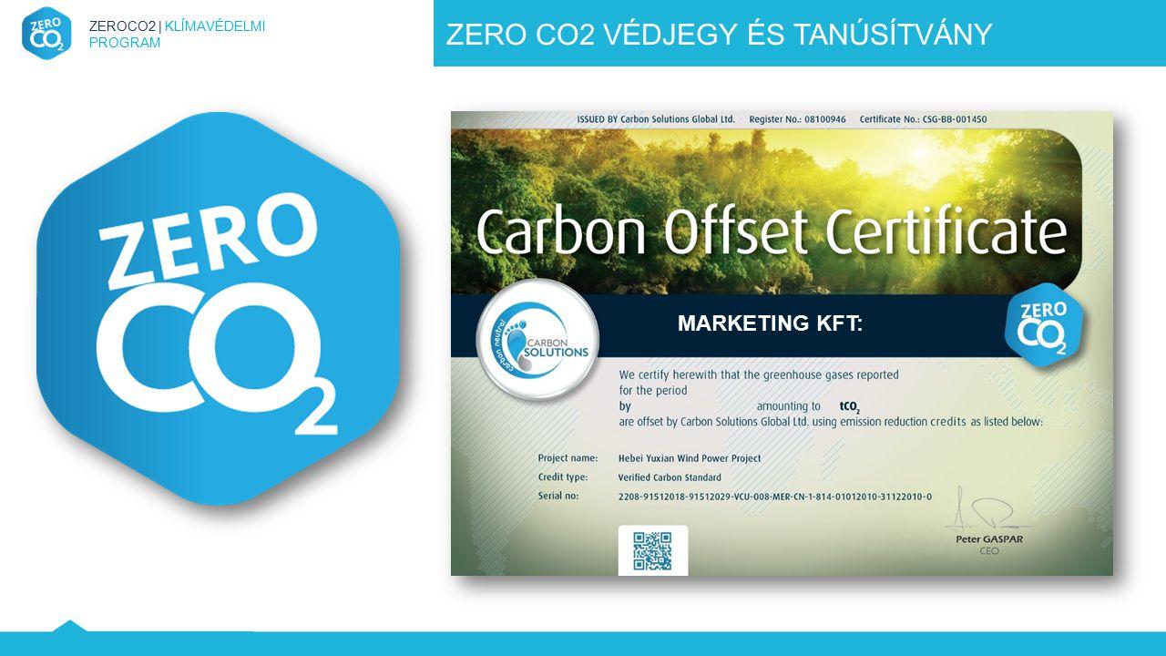 ZERO CO2 VÉDJEGY ÉS TANÚSÍTVÁNY