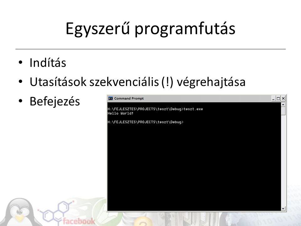 Egyszerű programfutás