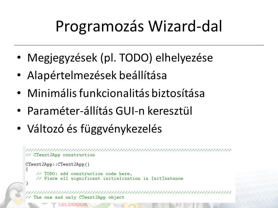 Programozás Wizard-dal