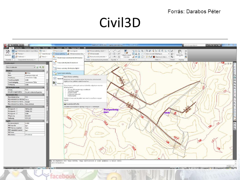 Civil3D Forrás: Darabos Péter