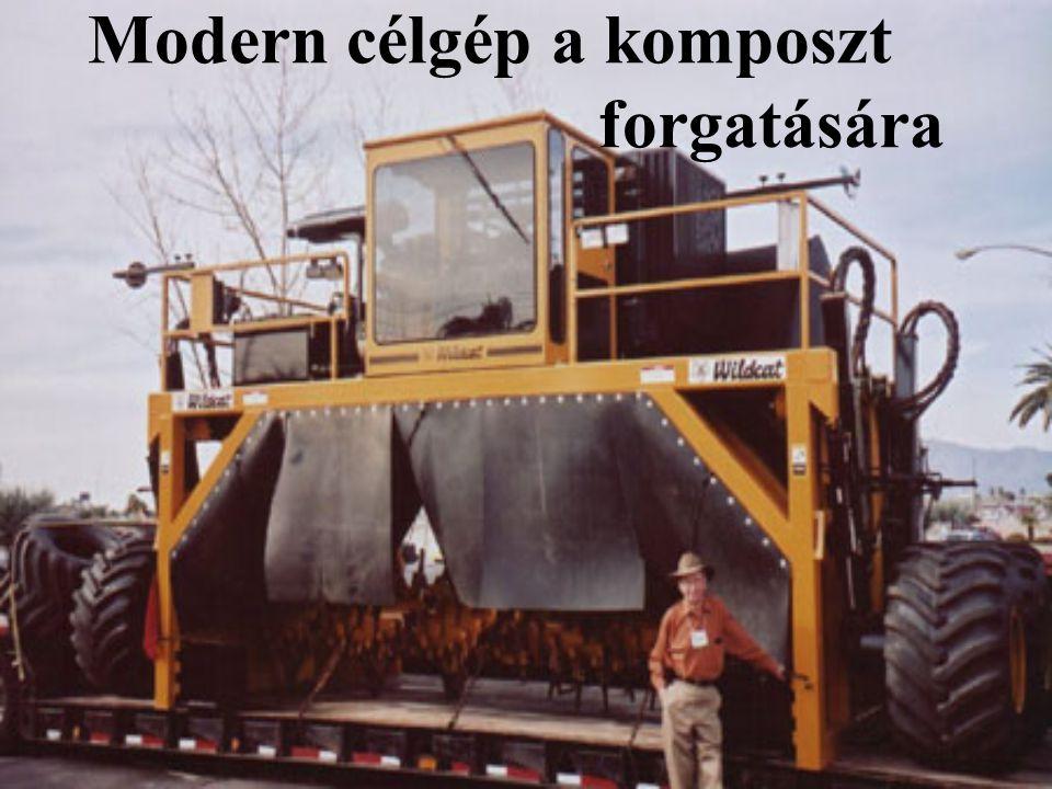Modern célgép a komposzt forgatására