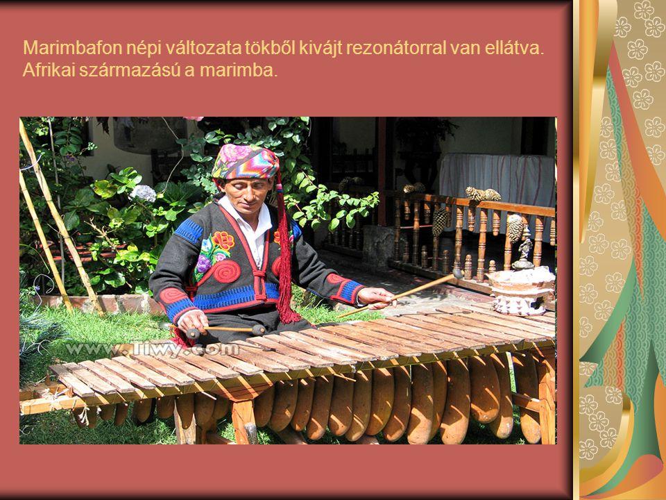 Marimbafon népi változata tökből kivájt rezonátorral van ellátva
