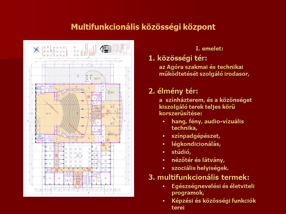 Multifunkcionális közösségi központ