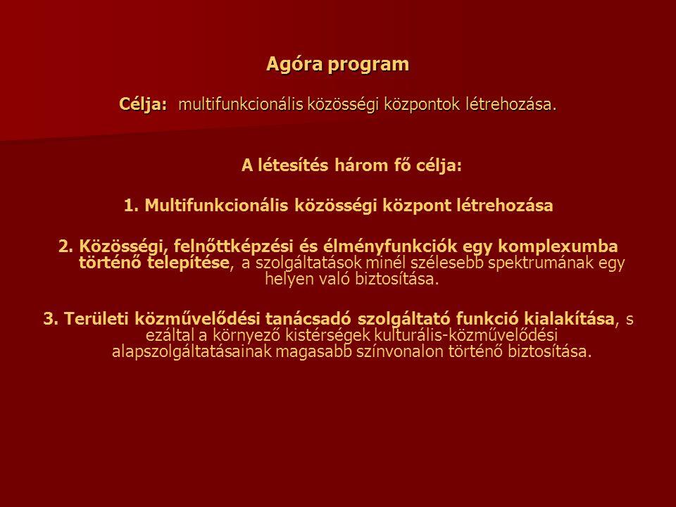 1. Multifunkcionális közösségi központ létrehozása
