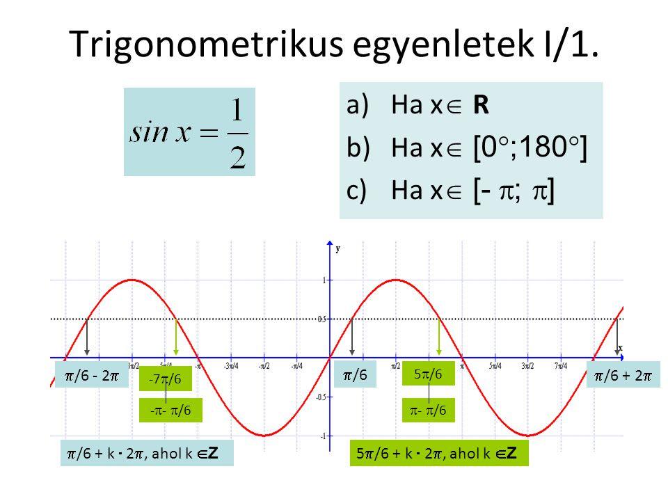 Trigonometrikus egyenletek I/1.