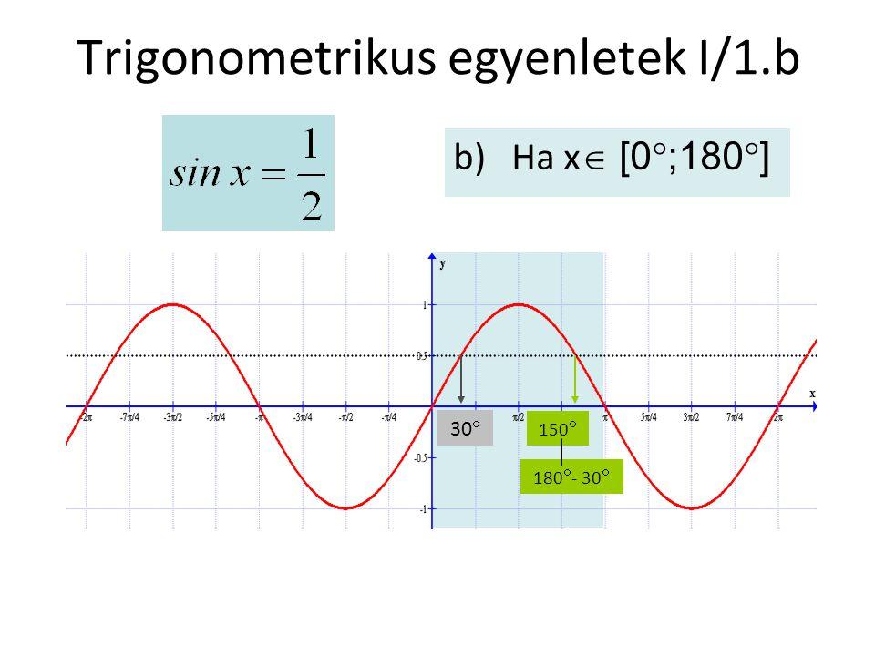 Trigonometrikus egyenletek I/1.b