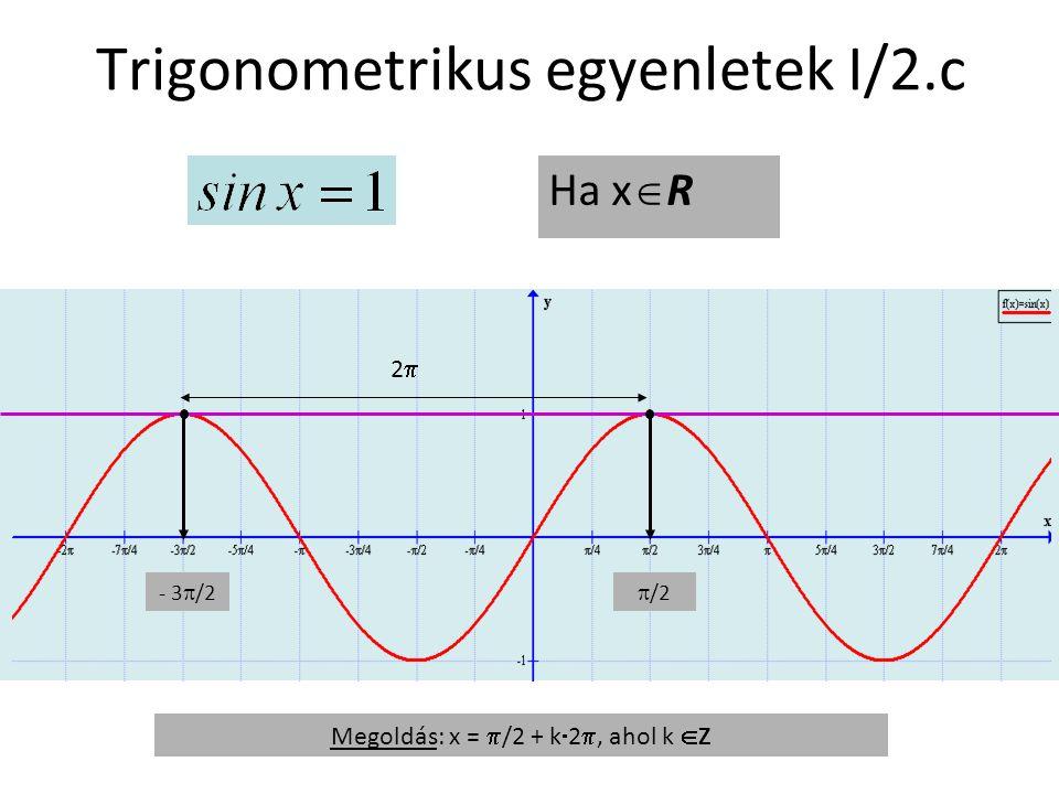 Trigonometrikus egyenletek I/2.c