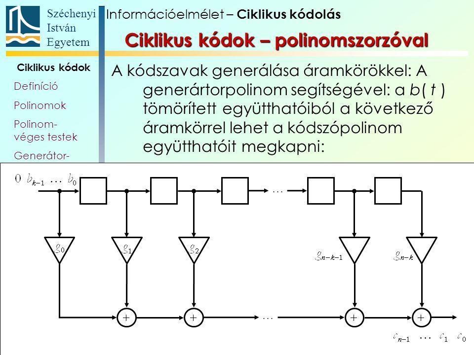 Ciklikus kódok – polinomszorzóval