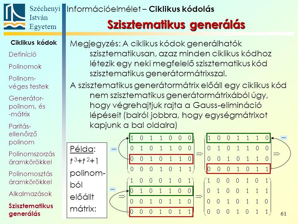 Szisztematikus generálás