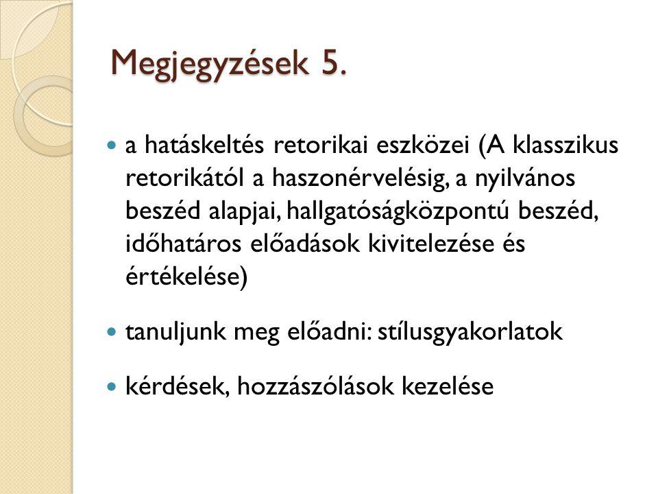Megjegyzések 5.