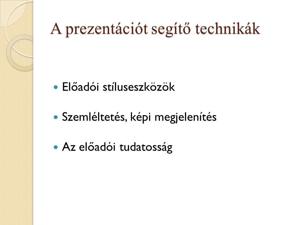 A prezentációt segítő technikák