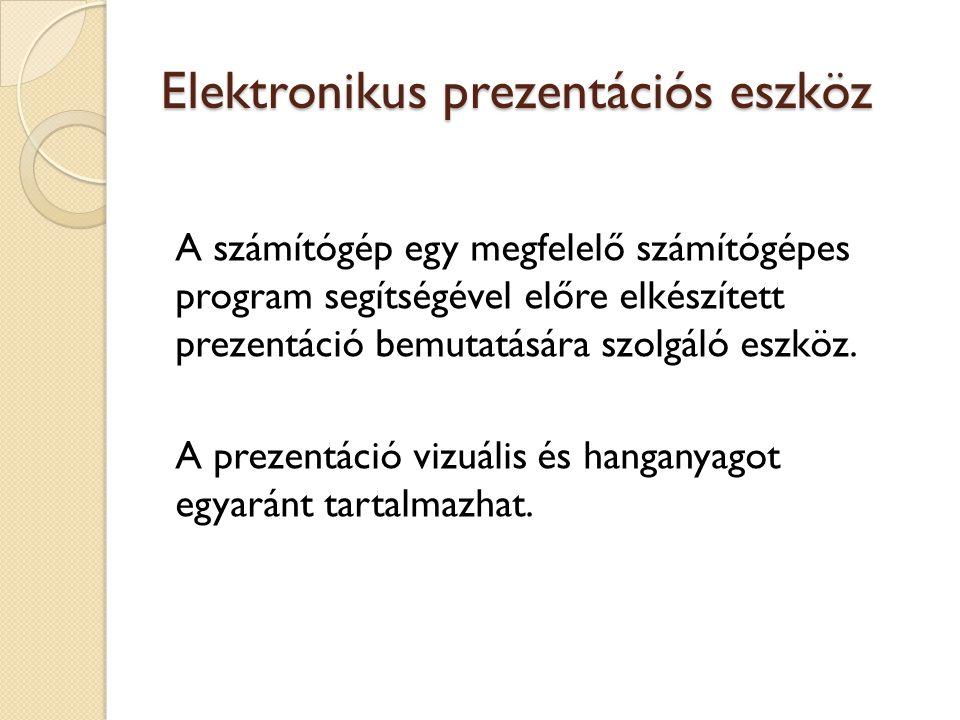 Elektronikus prezentációs eszköz