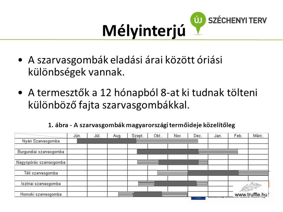 1. ábra - A szarvasgombák magyarországi termőideje közelítőleg