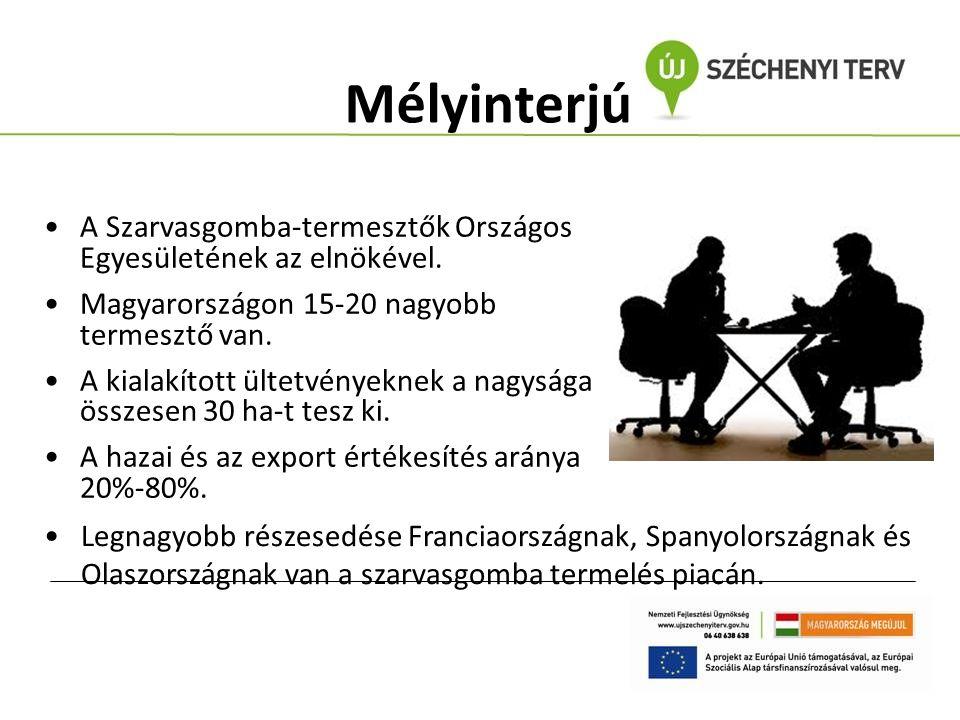Mélyinterjú A Szarvasgomba-termesztők Országos Egyesületének az elnökével. Magyarországon 15-20 nagyobb termesztő van.