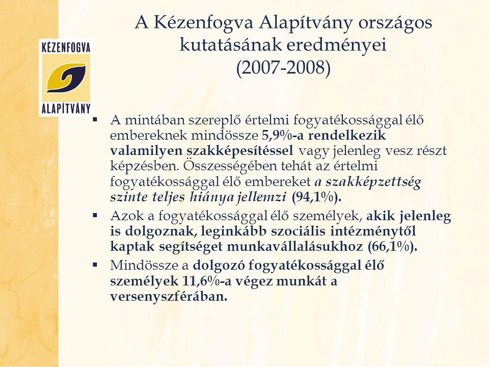 A Kézenfogva Alapítvány országos kutatásának eredményei (2007-2008)
