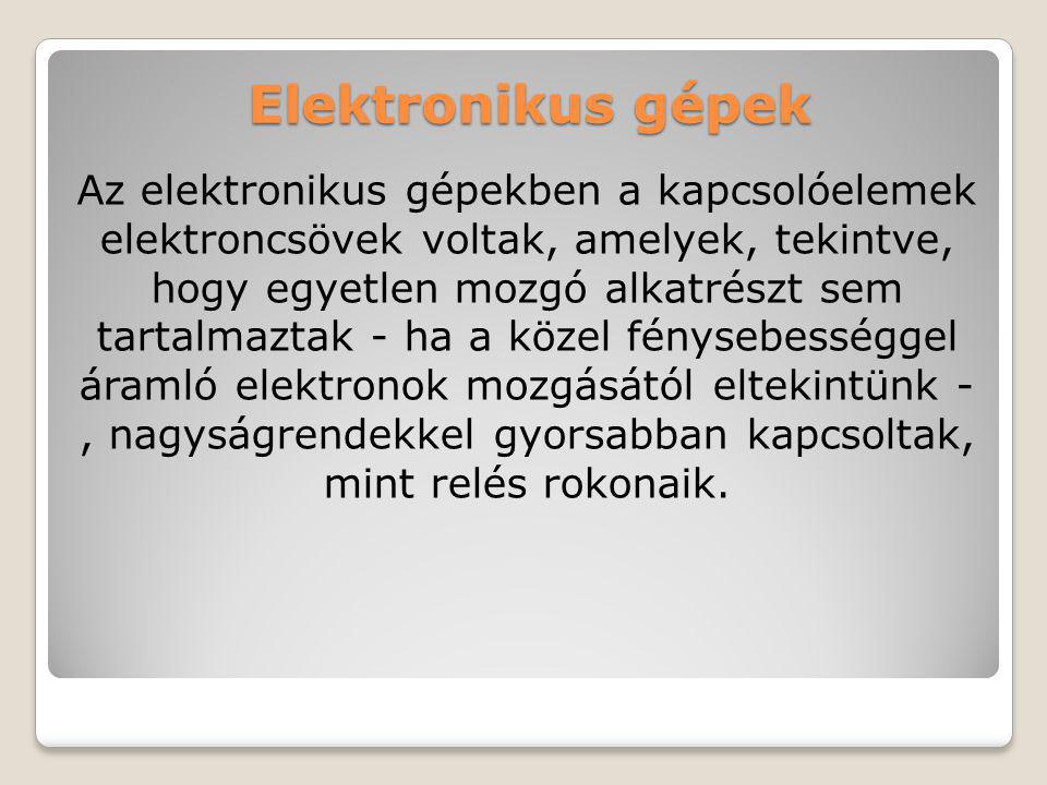 Elektronikus gépek