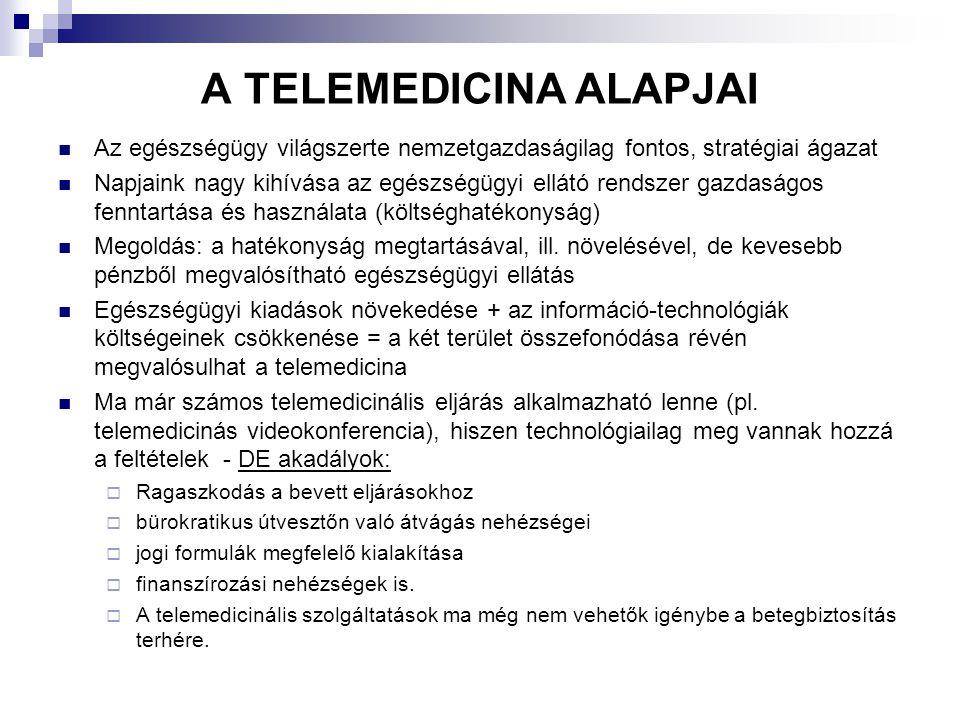 A TELEMEDICINA ALAPJAI