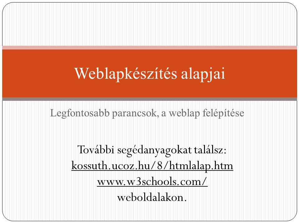 Weblapkészítés alapjai
