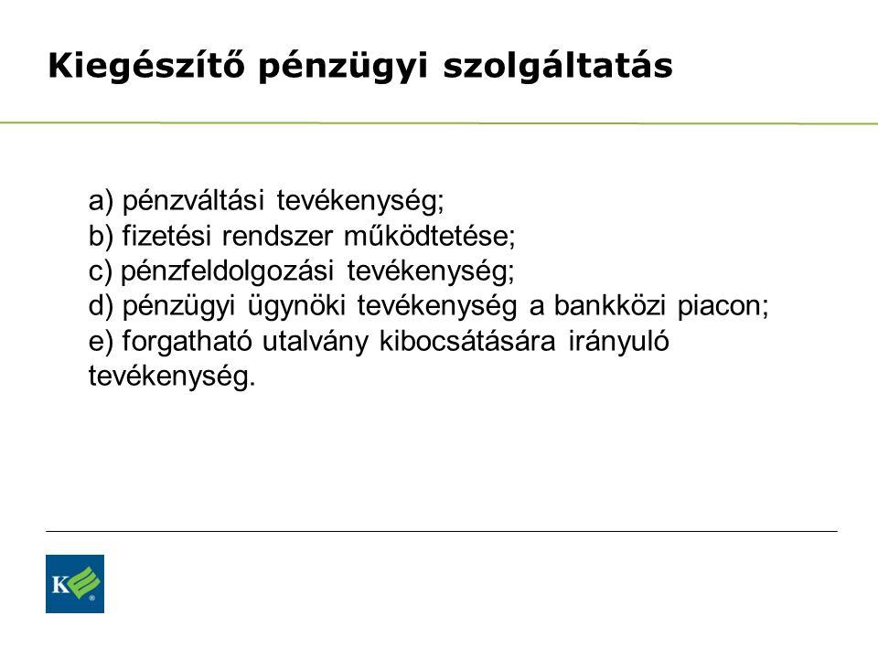 Kiegészítő pénzügyi szolgáltatás
