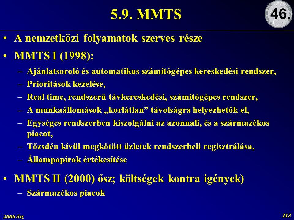 5.9. MMTS 46. A nemzetközi folyamatok szerves része MMTS I (1998):