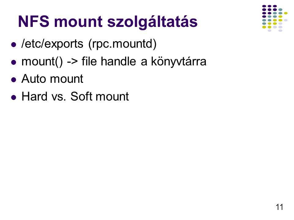 NFS mount szolgáltatás