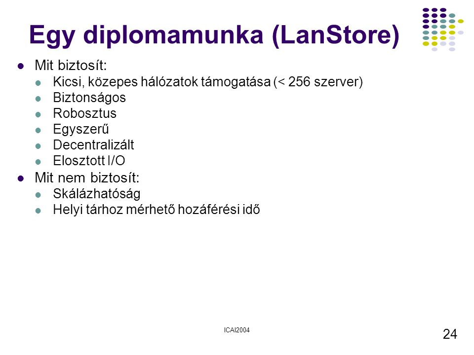 Egy diplomamunka (LanStore)