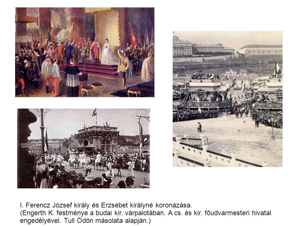 június 8-án Ferenc Józsefet és feleségét országos ünnepségek közepette Magyarország és társországai királyává és királynéjává koronázták. A ceremónia azonban több újdonságot is tartogatott: a szertartásra nem Pozsonyban, hanem Budán, a Nagyboldogasszony (Mátyás) templomban került sor, s a korábbi szokással ellentétben a király feleségét, a haza jóságos gondviselőjét nem a király után néhány nappal, hanem férjével egyszerre koronázták meg.