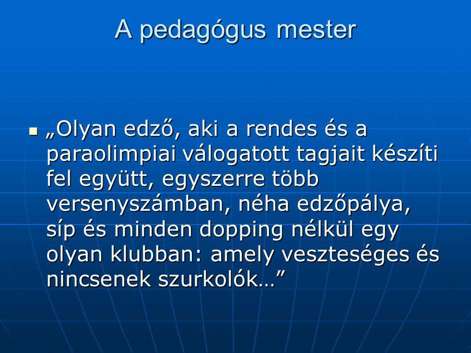 A pedagógus mester