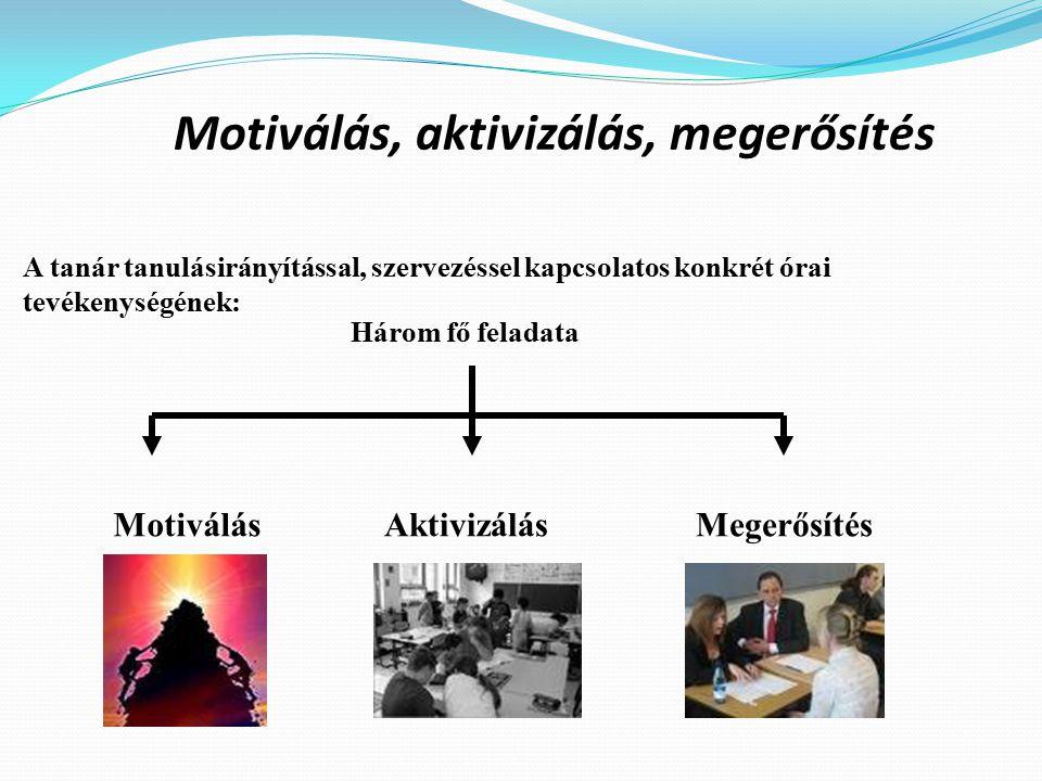 Motiválás, aktivizálás, megerősítés