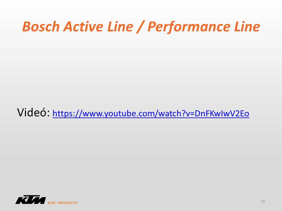 Bosch Active Line / Performance Line
