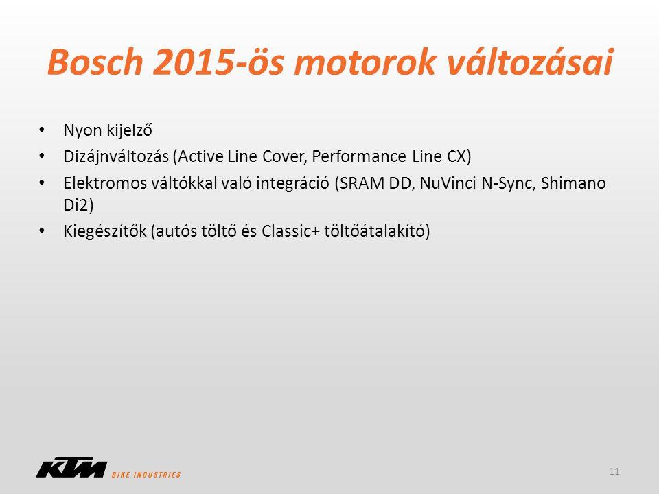 Bosch 2015-ös motorok változásai