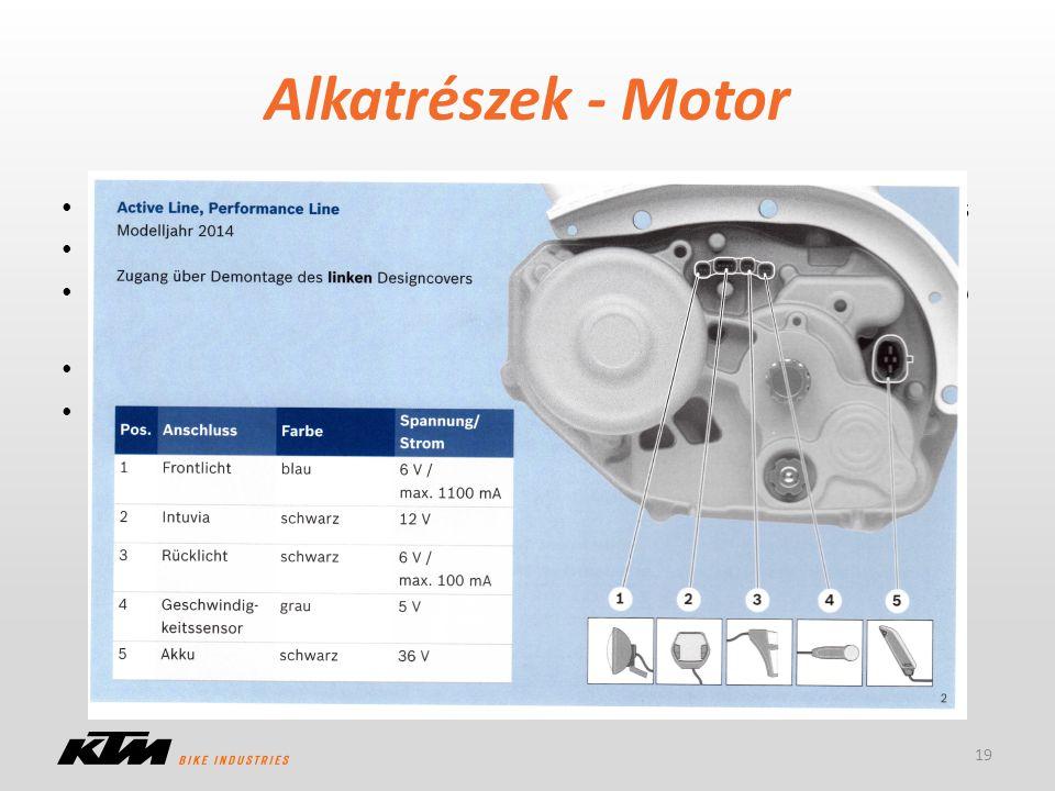 Alkatrészek - Motor Vevői előnyök: alacsony súlypont, rövid tengelytáv, szabad váltóválasztás. CAN Bus technológia, vezérlés a motorban.