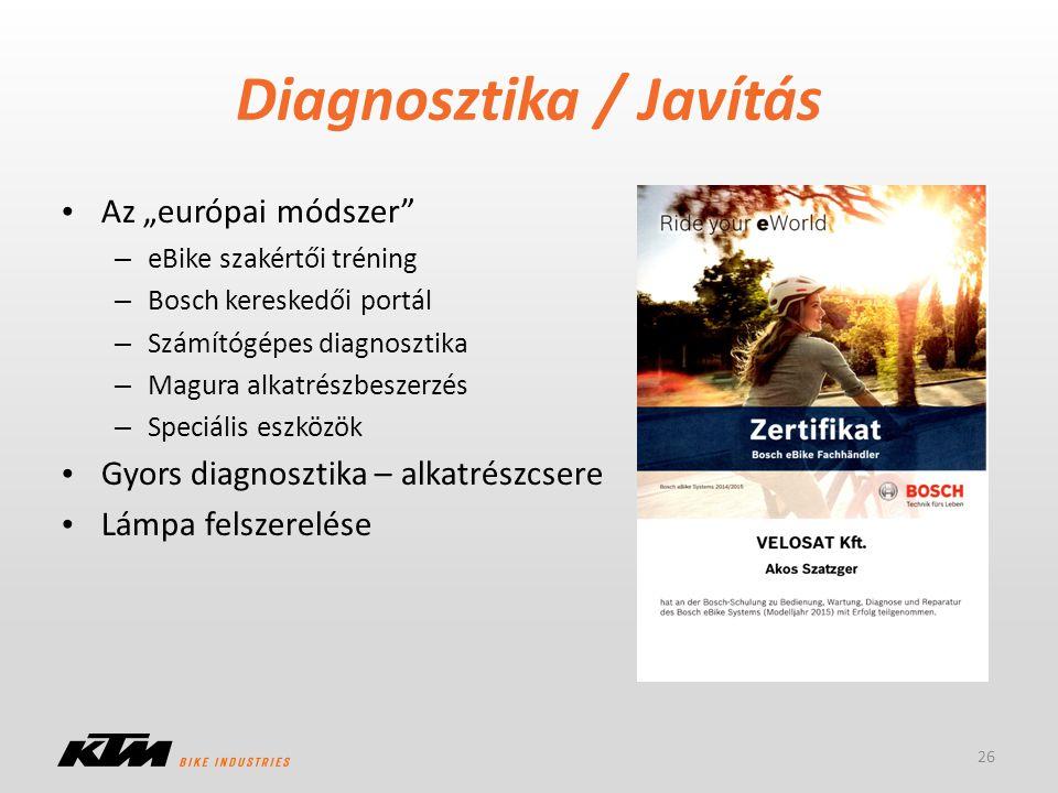 Diagnosztika / Javítás