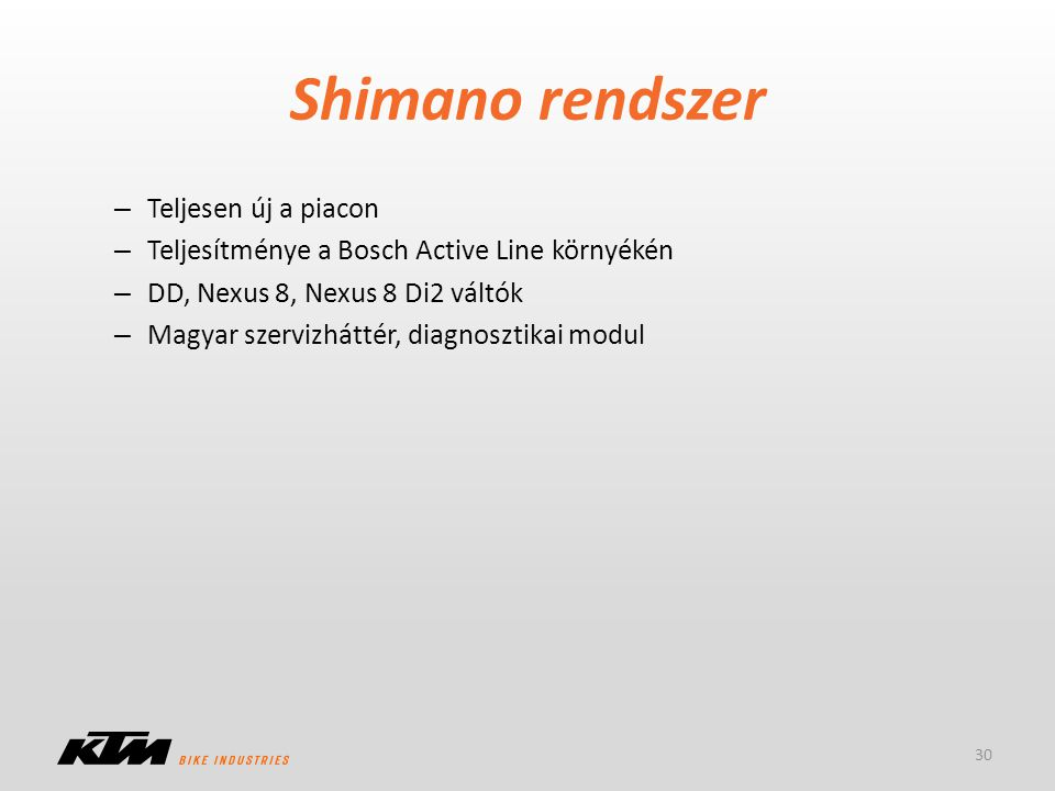 Shimano rendszer Teljesen új a piacon