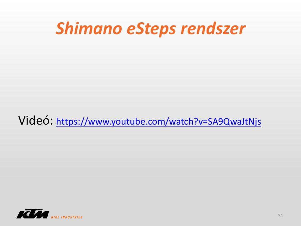 Shimano eSteps rendszer