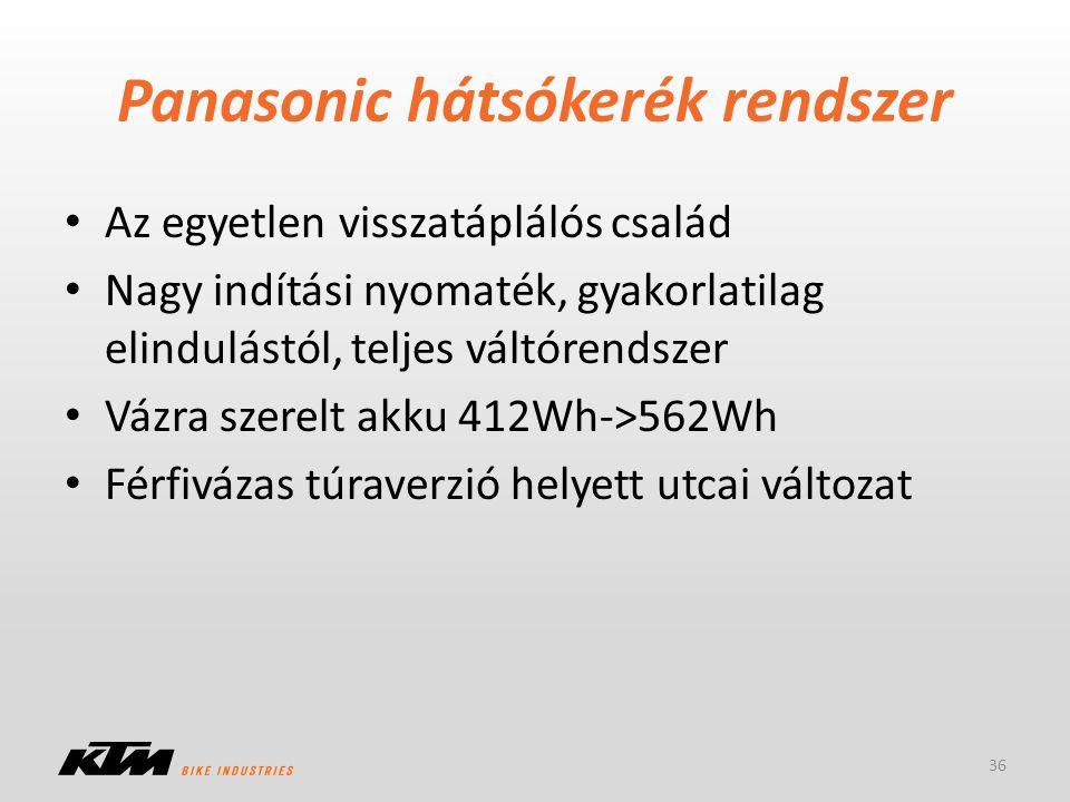 Panasonic hátsókerék rendszer