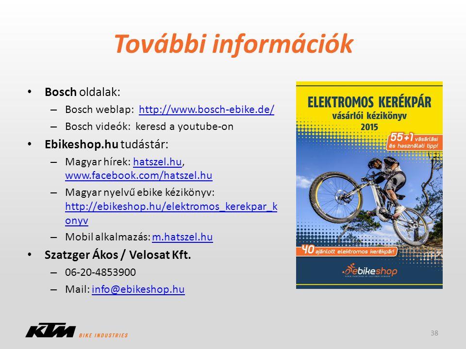 További információk Bosch oldalak: Ebikeshop.hu tudástár: