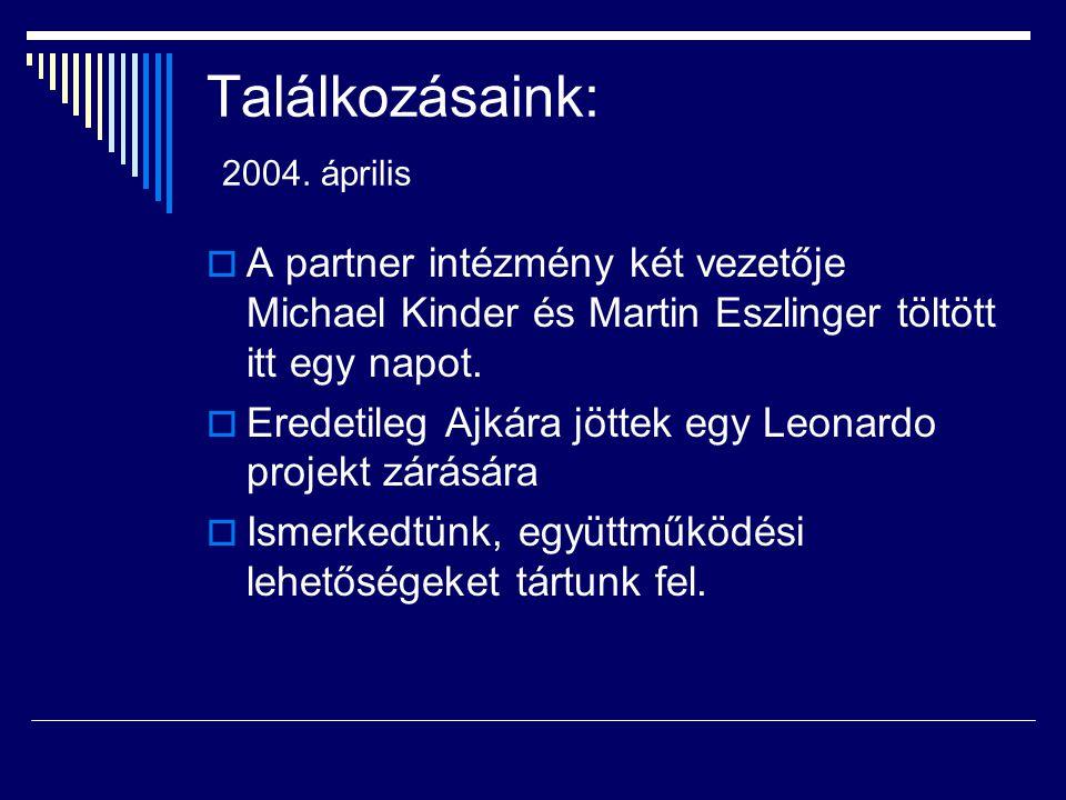 Találkozásaink: 2004. április