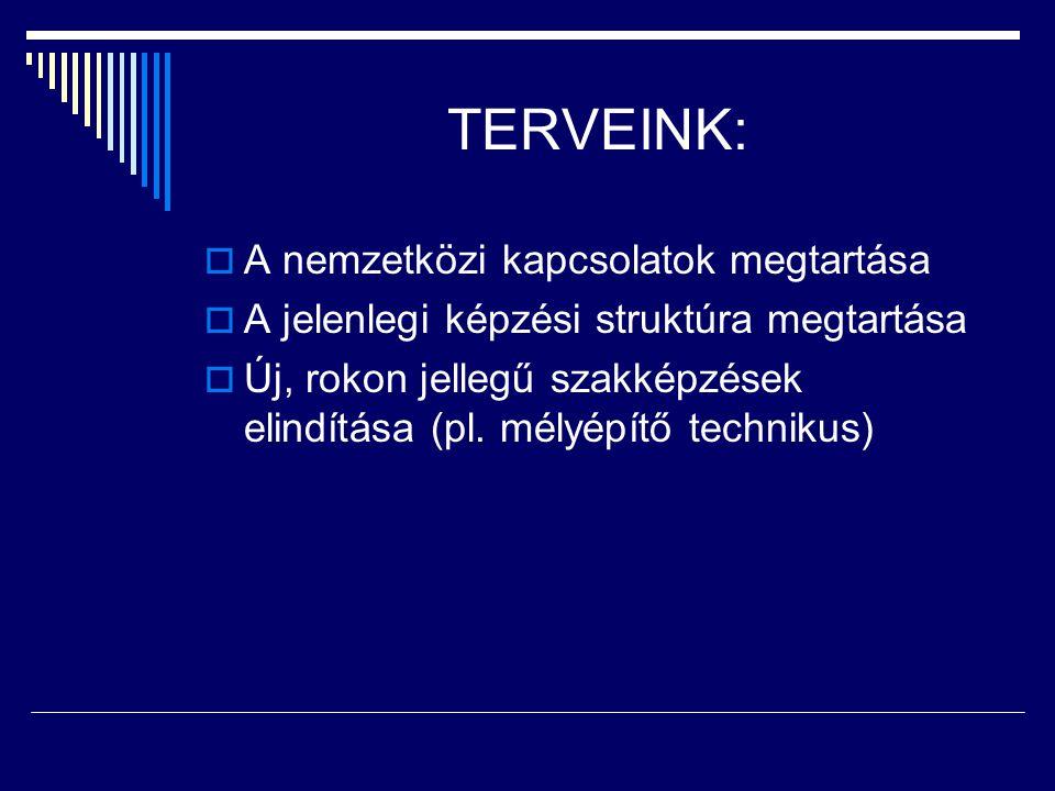 TERVEINK: A nemzetközi kapcsolatok megtartása
