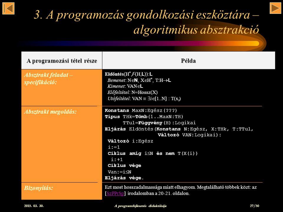 3. A programozás gondolkozási eszköztára – algoritmikus absztrakció