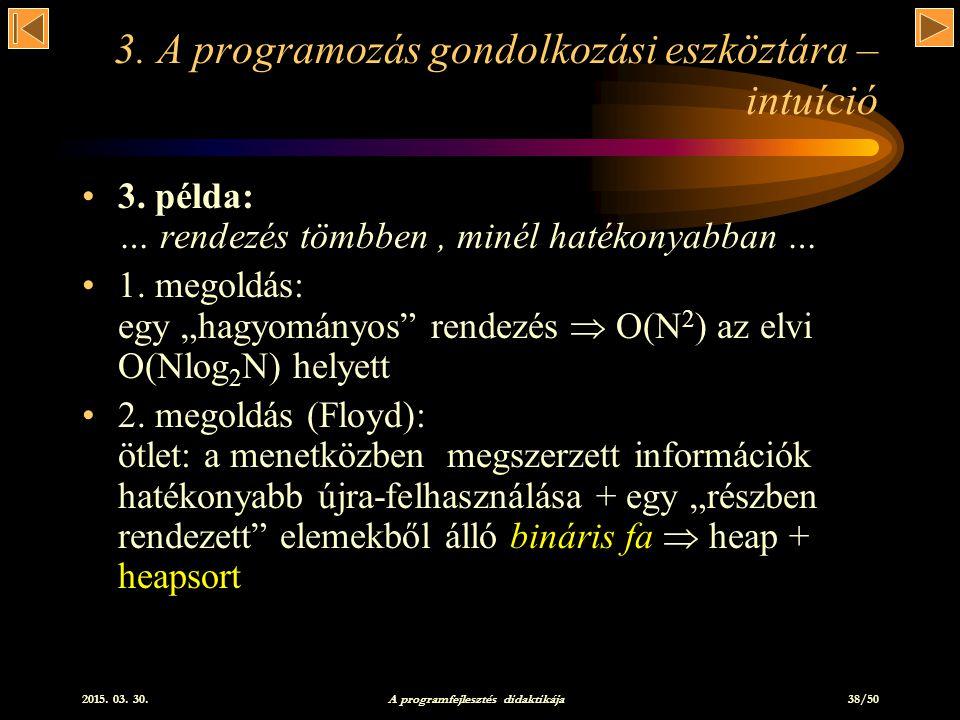 3. A programozás gondolkozási eszköztára – intuíció